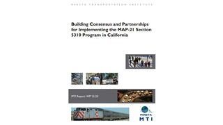 Building Consensus and Partnerships for Implementing the MAP-21 Section 5310 Program in California