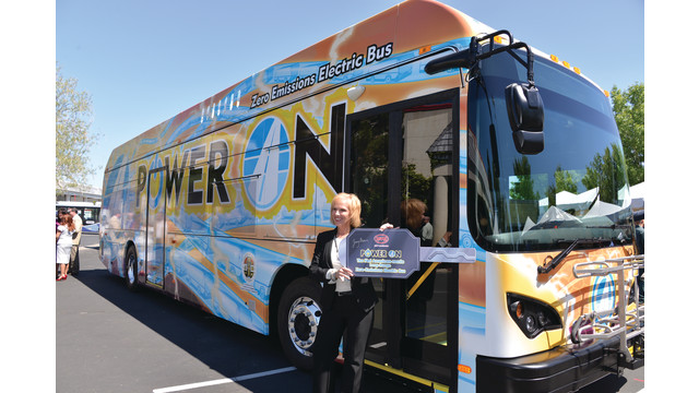 CA: Governor Gives AVTA the Key to a BYD Electric Bus