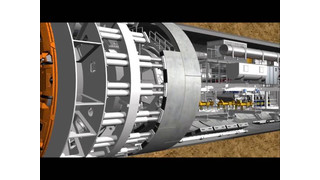 Tunnel Boring Machine Animation