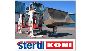 MD: Stertil-Koni Launches North American Rollout of ST 1065: Hydraulic Mobile Column Lift with Extra Wide Forks for Servicing Large-Tire, Off-Road Work Vehicles