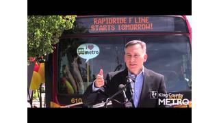 WA: King County Celebrates Launch of New RapidRide F Line