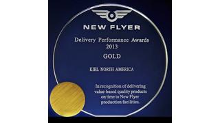 IN: Kiel North America Presented New Flyer Gold-Delivery Award