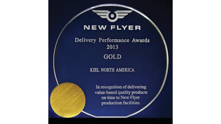IN: Kiel North America Presented New Flyer Gold-Delivery Award