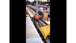 Expo Line Track Welding at Culver City Station