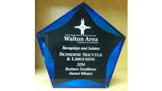 Sunshine Shuttle & Limousine Presented Business Excellence Award