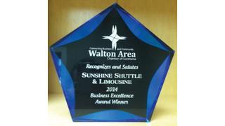 Sunshine Shuttle & Limousine Presented Business Excellence Award